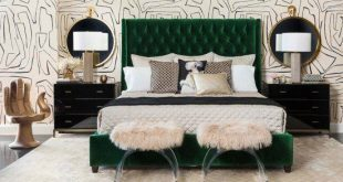 Amelia Tall Bed, Vance Emerald