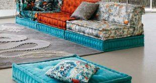 Incredible Mah Jong Sofa With Jean Paul Gaultier Upholstery | DigsDigs