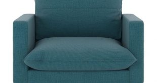 Nyekoncept Jackson Oxford Weave Armchair Aegean Blue