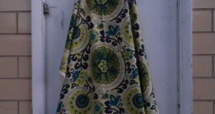 "Danish Modern Upholstery Craft Pillow Curtain Fabric 74"" x 57 1/2"""