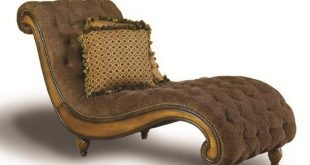 Dinah Tufted Chaise Lounger With Accent Pillows by Rachlin Classics