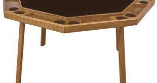 Kestell Furniture 52'' Folding Poker Table Finish: Mahogany, Upholstery: Bottle Green Felt