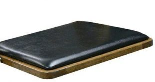 "Kestell Furniture Maple Wood Padded Folding Chair Seat Thickness: .5"", Wood Finish: Fruitwood/Walnut, Upholstery: Black Vinyl"