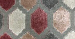 Upholstery Fabric - Seymour - Rosequartz - Honeycomb Cut Velvet Home Decor Upholstery & Drapery Fabr
