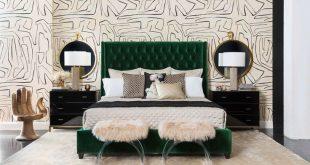 Amelia Tall Bed, Vance Emerald - Vance Emerald / Queen