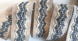 """Decorative trim by yard - 1 1/2"""" 4cm trim - vintage French Passementerie - sewing supply - upholstery trim - curtain & lamp shade edging"""