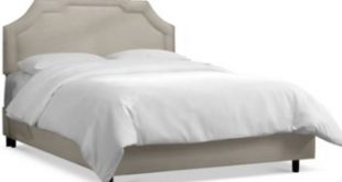 Grant Queen Upholstered Border Bed, Quick Ship