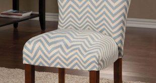 Parson Side Chair (Blue Chevron) (Set of 2)