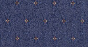 Sapphire Blue Small Scale Damask Upholstery Fabric