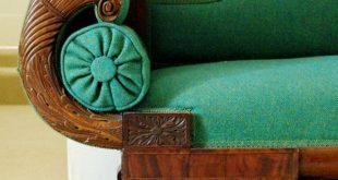 American Classical Carved Figured Sofa