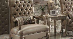 Astoria Grand Ledbury Armchair Upholstery Color: Golden Brown/Cherry Oak