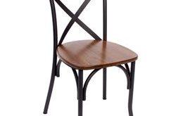 BFM Seating Henry Metal Frame X-Back Chair [JS88CASH-SB]