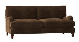 Birch Lane™ Heritage Montgomery Upholstered Sofa Upholstery Color: Microsuede Chocolate