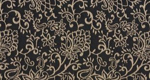 Black, Contemporary Floral Jacquard Woven Upholstery Fabric By The Yard