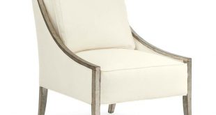 Caracole A Fine Line - Silver Leaf Slope Arm Chair