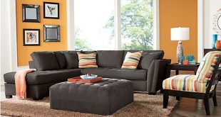 Cindy Crawford Home Calvin Heights Slate 2 Pc Sectional