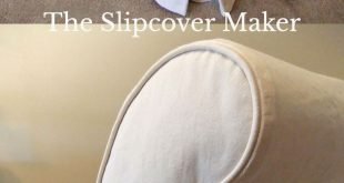 Cottage-Style Slipcover in Natural Denim