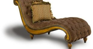 Dinah 33 Inch Brown Upholstered Chaise