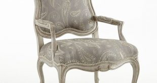 French Country Louis Chair - Taupe Paisley