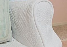 From Matelasse Bedspread to Chaise Slipcover