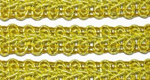 Gold Metallic French Gimp Trim Bright Gold Craft Sewing and Upholstery Trim Perfect for Costuming and Christmas Trim - 1 yard