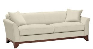 """Greenwich Upholstered Sofa 86"""", Down Blend Wrapped Cushions, Twill Cadet Navy at Pottery Barn"""