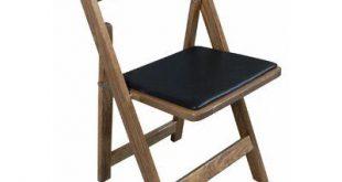 Kestell Furniture Oak Wood Padded Folding Chair Wood Finish: Ranch Oak, Upholstery: Red Vinyl