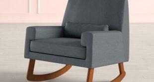 Nursery works Sleepytime Rocking Chair Leg Color: Light, Upholstery Color: Charcoal