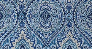 Ocean Blue Blue Traditional Linen Drapery and Upholstery Fabric