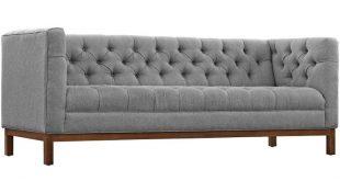 Panache Upholstered Fabric Sofa - Expectation Gray