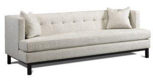 Precedent Furniture Corbin Chesterfield Sofa Finish: Ebony, Upholstery: Bayview ...