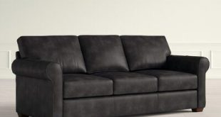 Wayfair Custom Upholstery™ Rachel Sofa Bed Upholstery Color: Durango Black