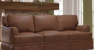Westland and Birch Alto Leather Sofa Upholstery Color: Cherry