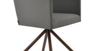 sohoConcept Harput Stick Dining Chair Leg Color: Walnut, Upholstery Color: Camira Wool Amber